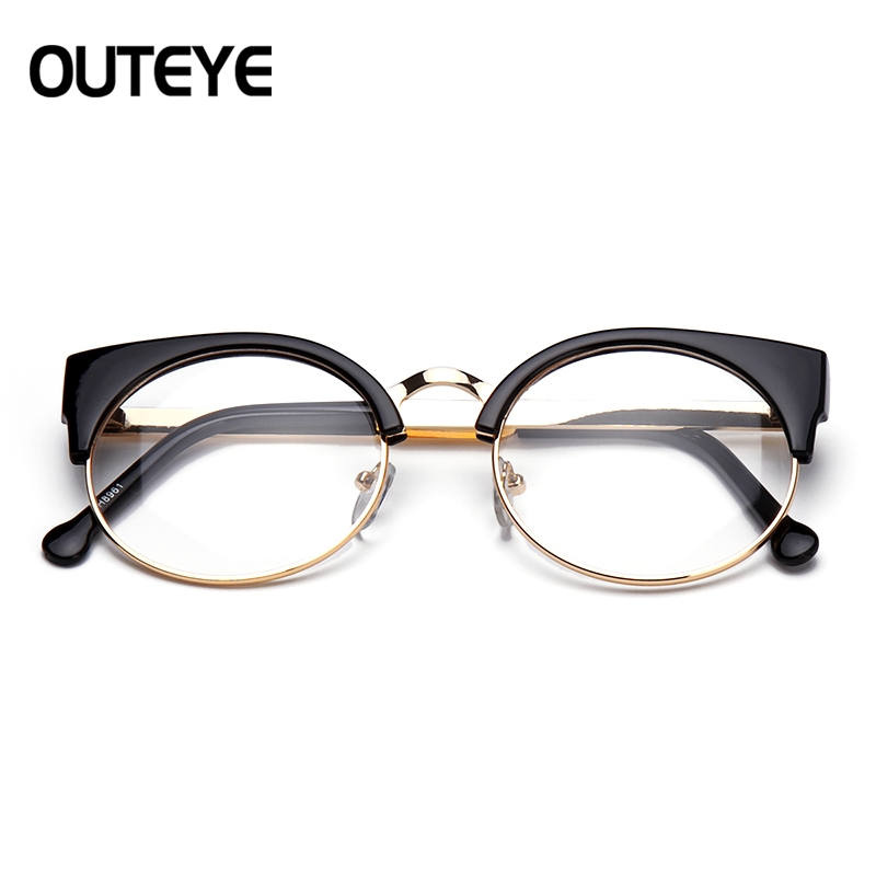 OUTEYE Vintage Myopia Optical Glasses Frame Women Round Eyeglasses ...