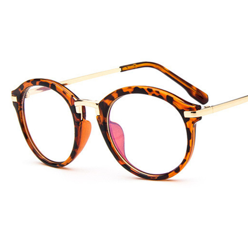 Retro Round eyeglasses frame women\'s brand designer men metal ...